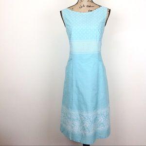 Pendleton Blue Sleeveless Fit & Flare Dress-N473